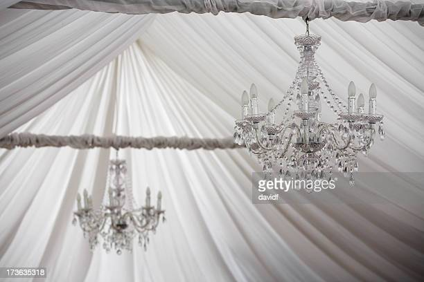 soft chandelier - entertainment tent stock pictures, royalty-free photos & images