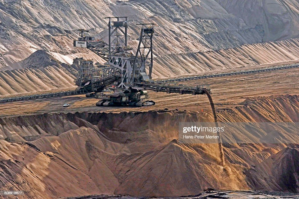 Soft coal opencast mining Garzweiler, Germany : Stock-Foto