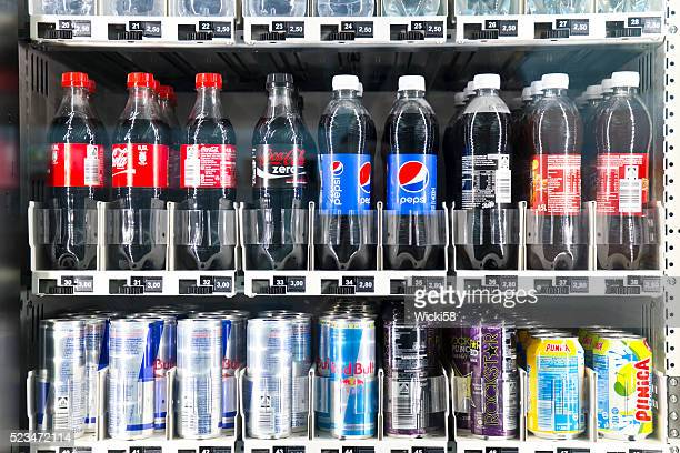 Soft Drinks in a Vending Machine