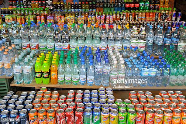soft drinks in poland europe - energy drink stock pictures, royalty-free photos & images