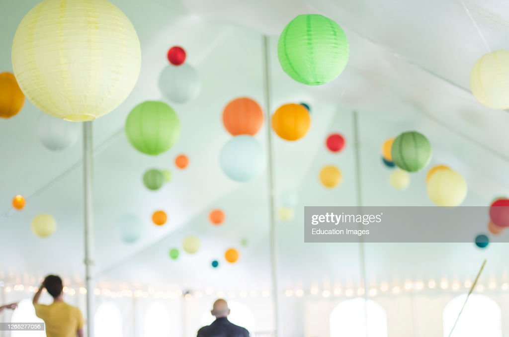 Soft Focus Of Wedding Tent Interior With Paper Lantern Decorations News Photo Getty Images