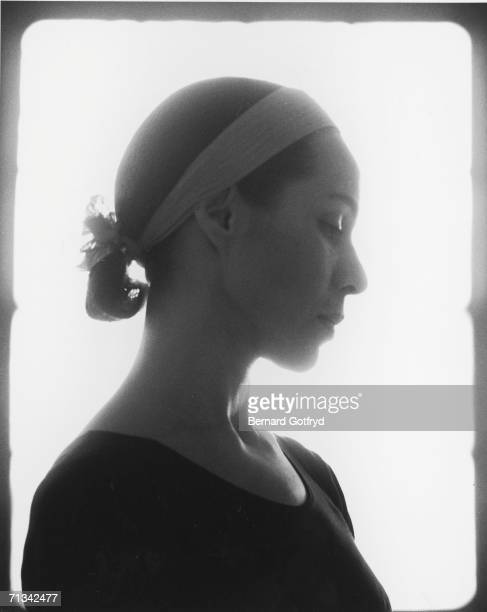 Soft focus profile portrait of American ballet dancer Maria Tallchief 1962