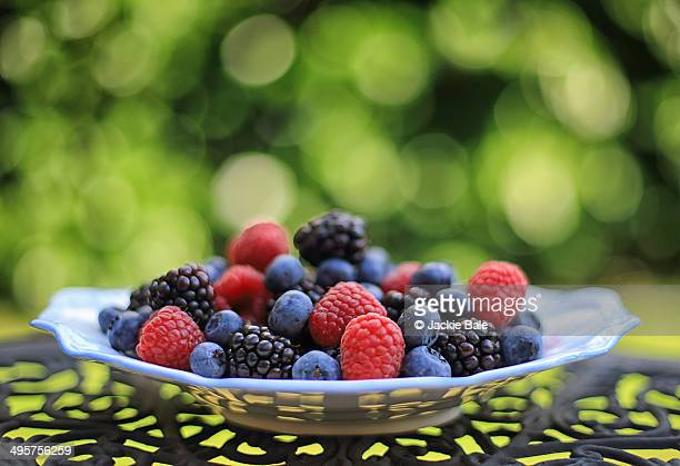 soft fruit bokeh - jackie brambles stock pictures, royalty-free photos & images