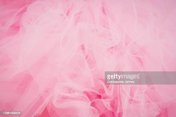 soft pink fabric background - チュール生地 ストックフォトと画像