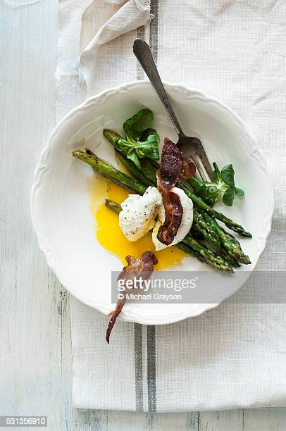 Soft Poached Egg with Asparagus