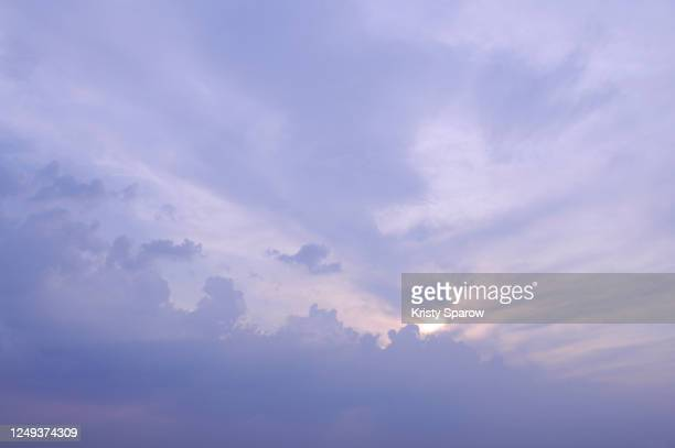 soft purple twilight cloudscape - kristy sparow stock pictures, royalty-free photos & images
