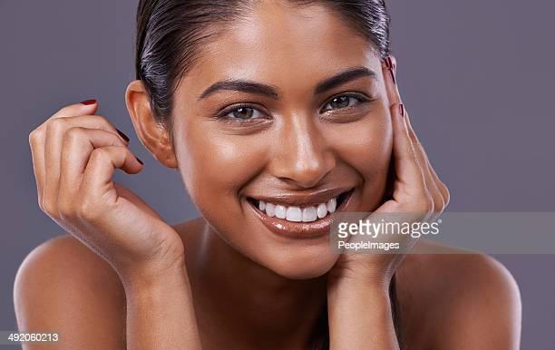 Soft skin makes me smile