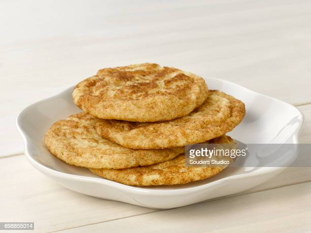soft snickerdoodle cookies - snickerdoodle stock pictures, royalty-free photos & images
