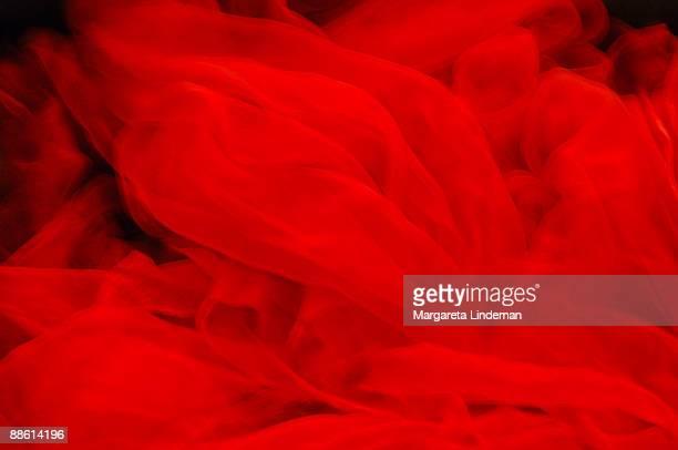 Soft thin red veil