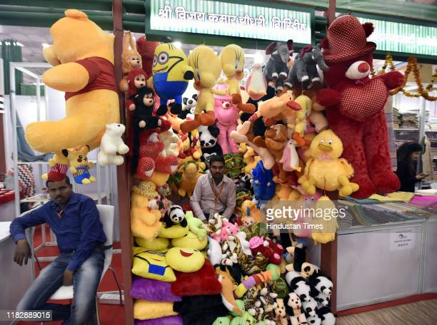 Soft toys at the Jharkhand pavilion hall no 12 during the 39th India International Trade Fair 2019 organised by ITPO at Pragati Maidan on November 16...