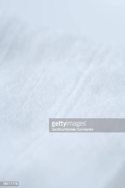 Soft white fabric, extreme close-up