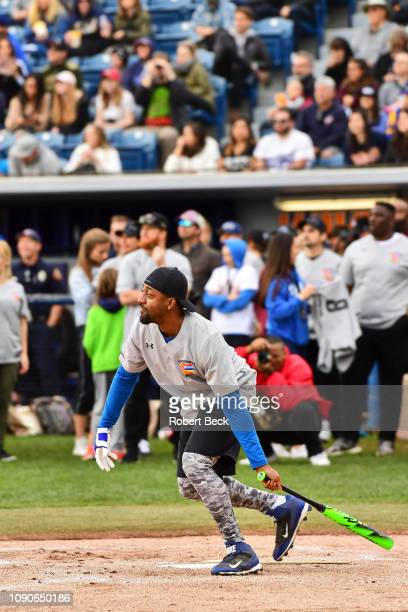 California Strong Celebrity Game Actor Jaleel White in action at bat at Pepperdine University The charity game raised funds for those affected by the...