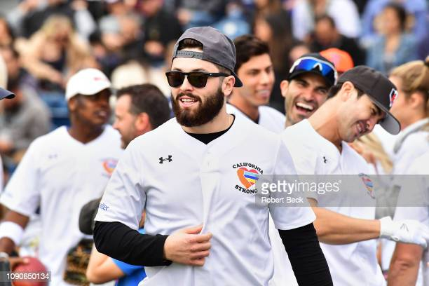California Strong Celebrity Game Cleveland Browns QB Baker Mayfield during game at Pepperdine University The charity game raised funds for those...