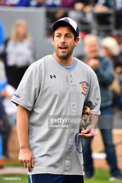 California Strong Celebrity Game Comedian Adam Sandler during game at Pepperdine University The charity game raised funds for those affected by the...