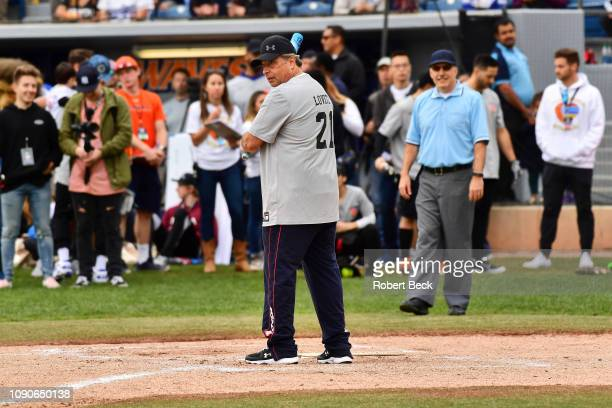 California Strong Celebrity Game Comedian Jon Lovitz during at bat during game at Pepperdine University The charity game raised funds for those...
