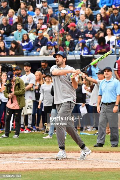 California Strong Celebrity Game Former USC QB Matt Leinart in action at bat at Pepperdine University The charity game raised funds for those...