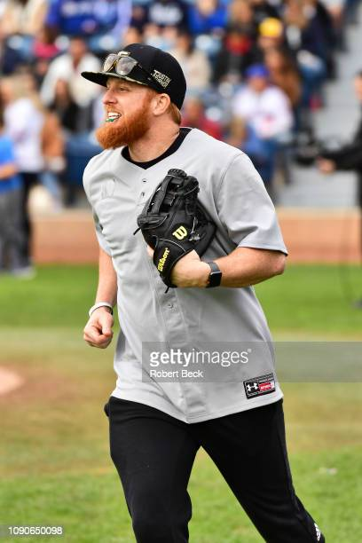 California Strong Celebrity Game Los Angeles Dodgers Justin Turner duirng game at Pepperdine University The charity game raised funds for those...