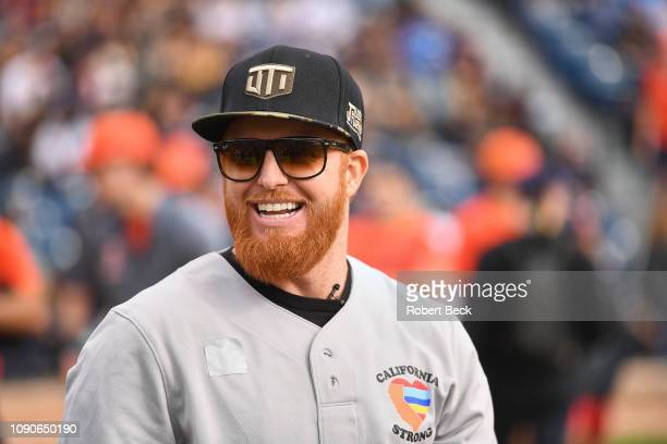 California Strong Celebrity Game Los Angeles Dodgers Justin Turner before game at Pepperdine University The charity game raised funds for those...