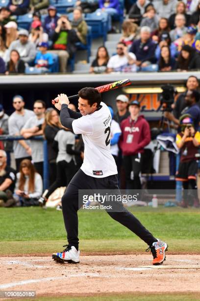 California Strong Celebrity Game Milwaukee Brewers Christian Yelich in action at bat at Pepperdine University The charity game raised funds for those...