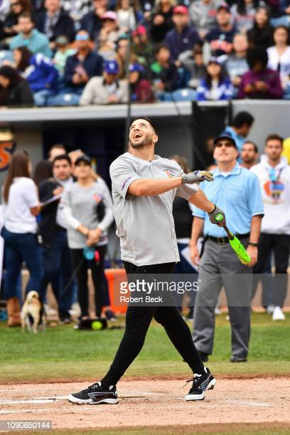 California Strong Celebrity Game Milwaukee Brewers Ryan Braun in action at bat at Pepperdine University The charity game raised funds for those...