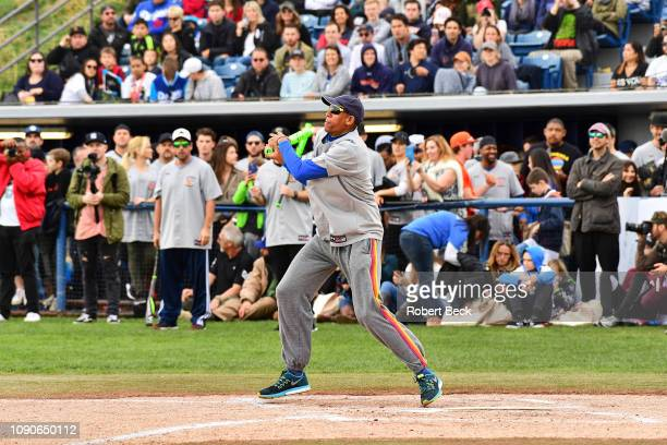 California Strong Celebrity Game NBA Hall of Famer Reggie Miller in action at bat at Pepperdine University The charity game raised funds for those...