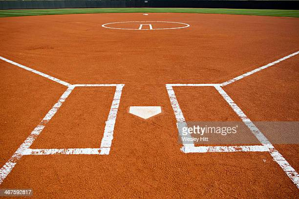 softball field batters box - softball stock pictures, royalty-free photos & images