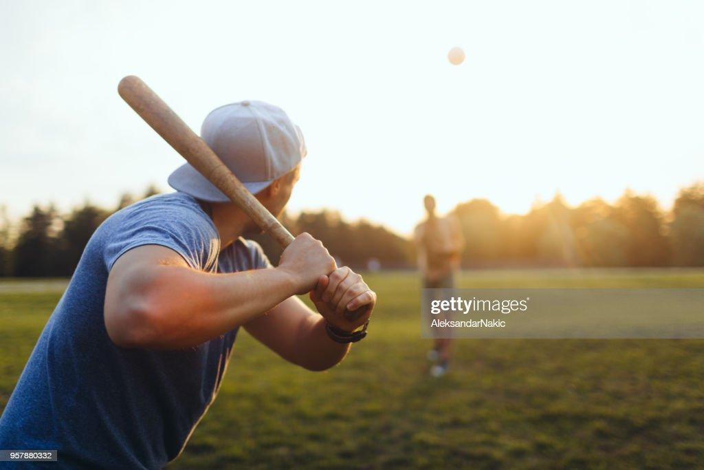 Softball game : Stock Photo