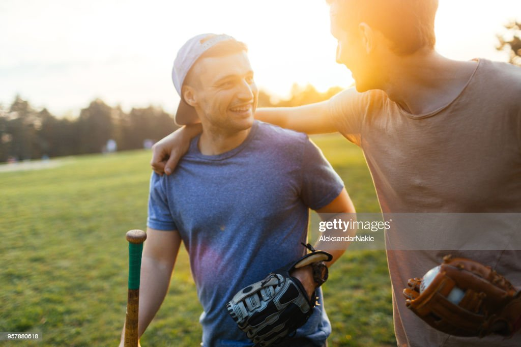 Softball game : Stock Photo