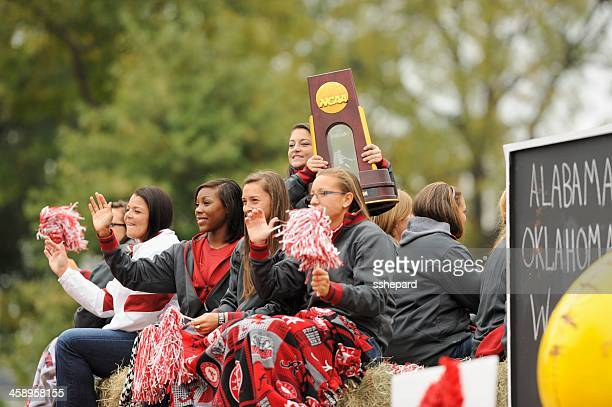 Softball national champions in homecoming parade