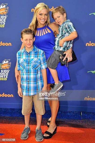 Softball Player Jennie Finch And Sons Ace Shane Daigle And Diesel Dean Daigle Attends The Nickelodeon