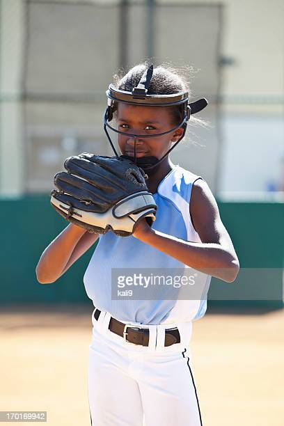 softball player - face guard sport stock pictures, royalty-free photos & images