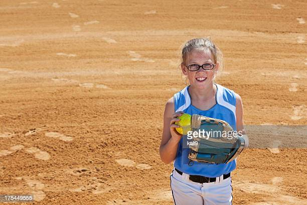 softball player - softball sport stock pictures, royalty-free photos & images