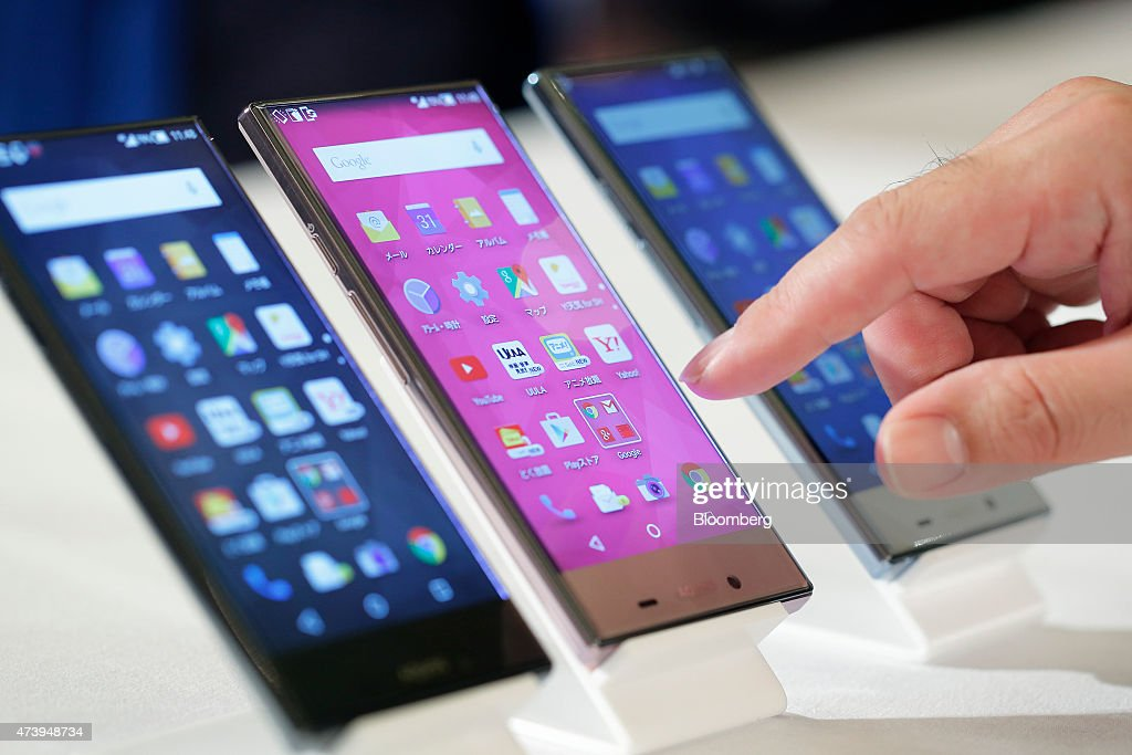 SoftBank Corp. Unveils New Smartphones : News Photo