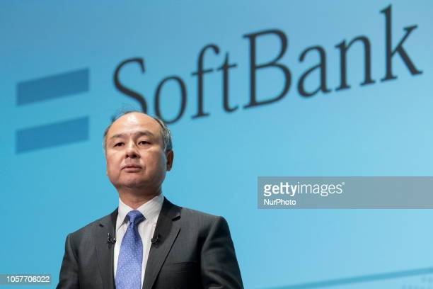 SoftBank Group Corp Chairman and CEO Masayoshi Son attends a news conference in Tokyo Japan November 5 2018 SoftBank Group Corp announced its...