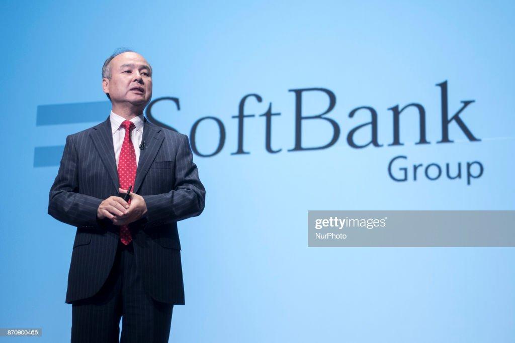 SoftBank Group CEO Masayoshi Son Presents second-Quarter Earnings : ニュース写真