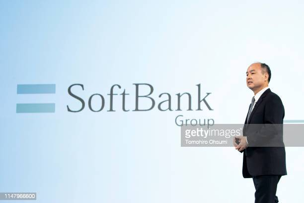 SoftBank Group Corp Chairman and CEO Masayoshi Son speaks during a press conference on May 9 2019 in Tokyo Japan SoftBank Group announced its...