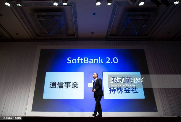 SoftBank Group Corp Chairman and Chief Executive Officer Masayoshi Son speaks during a press conference on November 5 2018 in Tokyo Japan Son voiced...