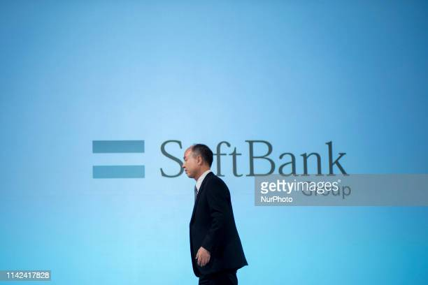 SoftBank Group Corp. Founder, Chairman and CEO Masayoshi Son announces his group's earnings results briefing on May 9, 2019 Tokyo, Japan, for the...