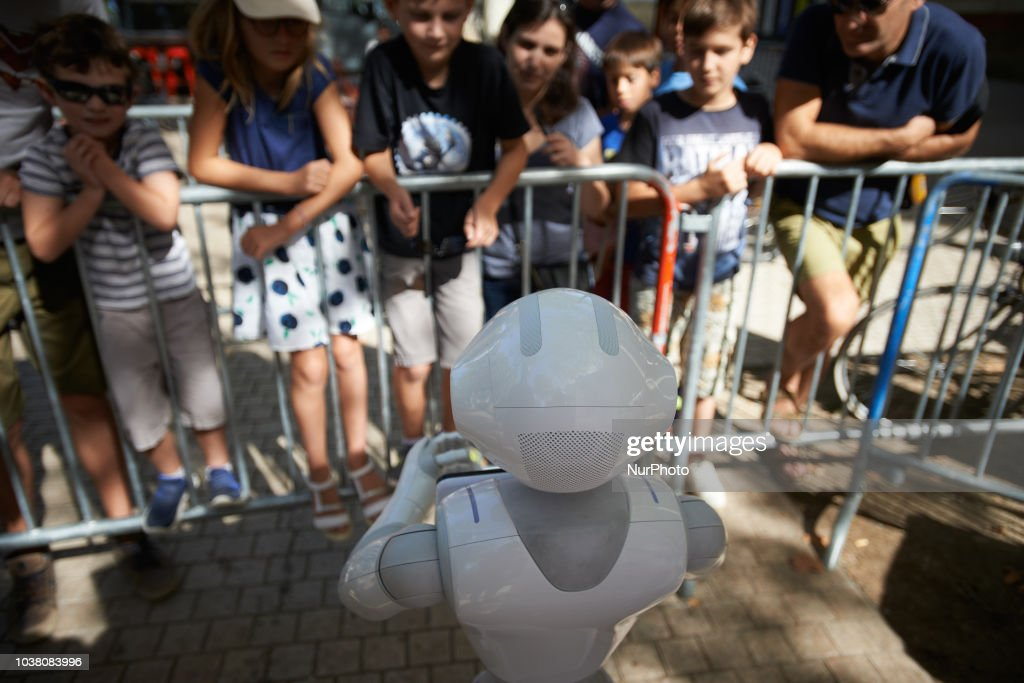 Robots Race In Toulouse, France