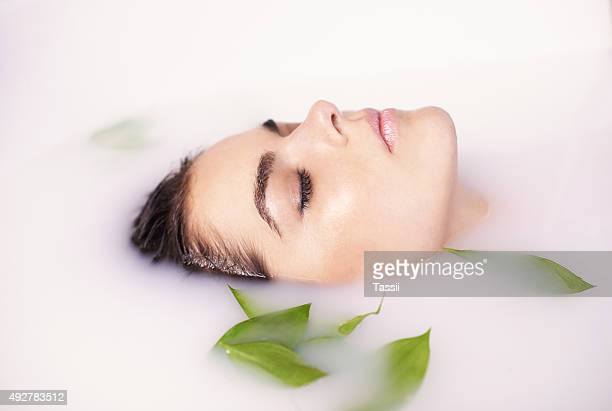 Soften your skin with a milk bath