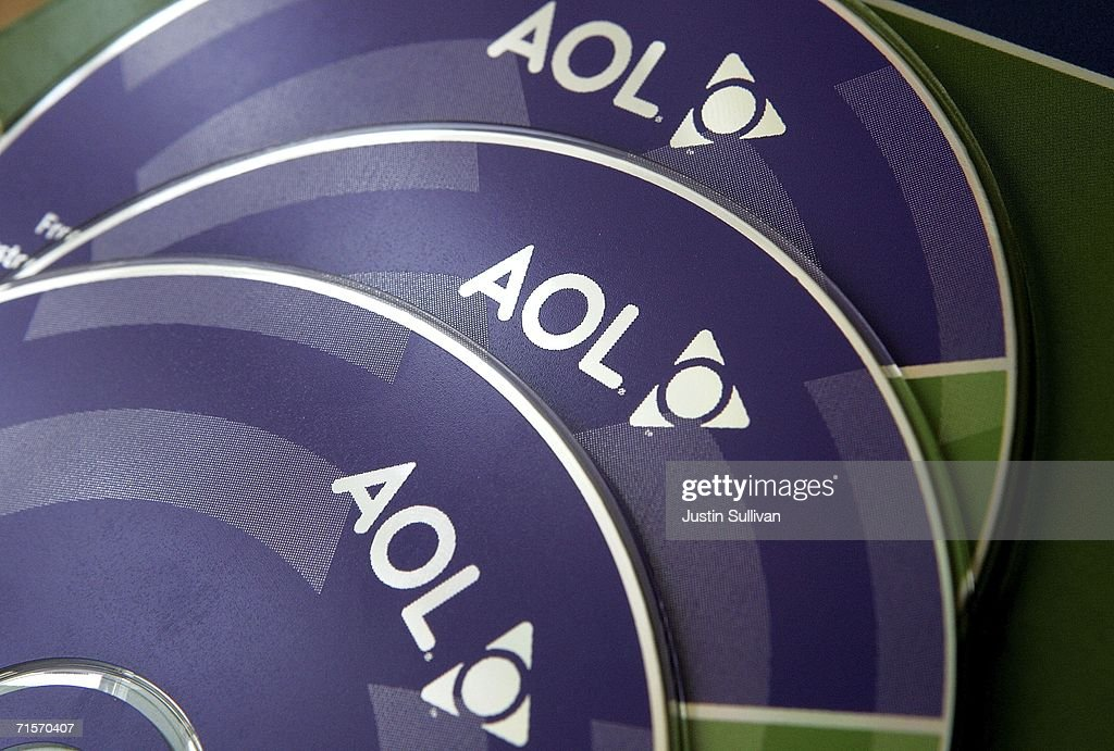 AOL software CDs are seen August 2, 2006 in San Rafael, California. Internet service provider AOL is offering free email accounts and software that was previously only offered to customers with paid subscriptions in an effort to boost internet access sales.