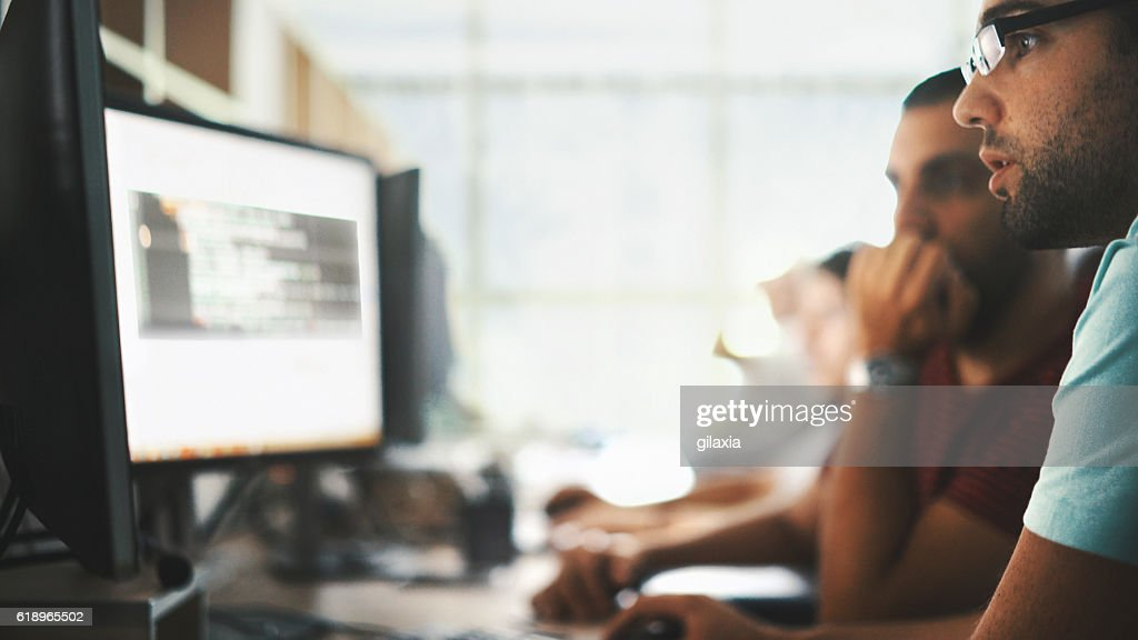 Software developers. : Stock Photo