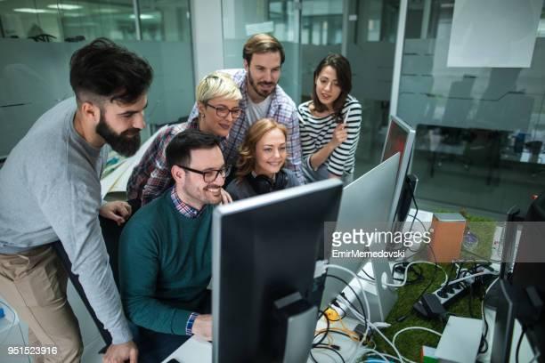 Software developers solving a problem