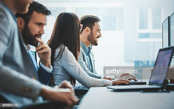 software developing team. - solutions stock pictures, royalty-free photos & images
