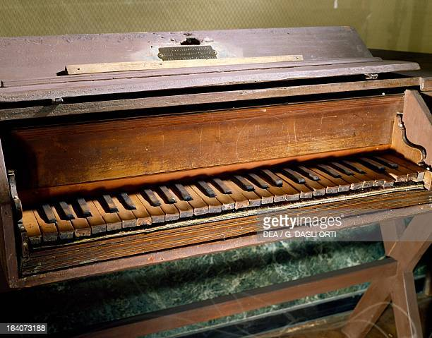 Softwood spinet which Giuseppe Verdi used to practise as a child 1821 He gave it through his last will to the retirement home for elderly musicians...