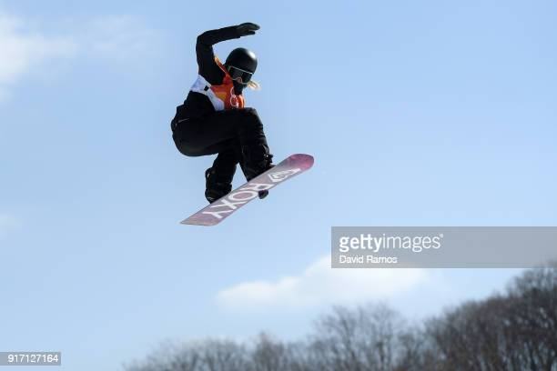 Sofya Fedorova of Olympic Athlete from Russia competes in the Snowboard Ladies' Slopestyle Final on day three of the PyeongChang 2018 Winter Olympic...