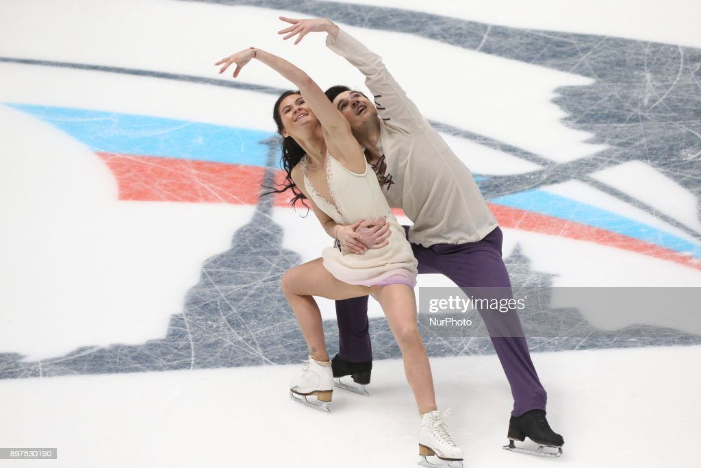Sofya Yevdokimova and Yegor Bazin perform free dance at the Russian Figure Skating Championships in St, on December 23, 2017. Petersburg, on December 23, 2017.