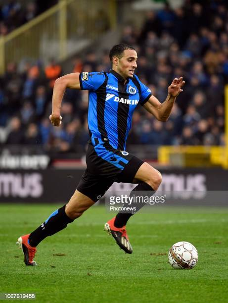 Sofyan Amrabat midfielder of Club Brugge during the Jupiler Pro League match between Club Brugge and Standard de Liege at the Jan Breydel stadium on...