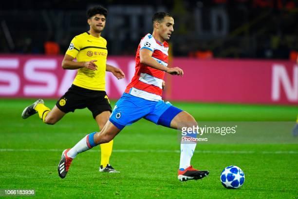 Sofyan Amrabat midfielder of Club Brugge during the UEFA Champions League group A match between Borussia Dortmund and Club Brugge KV on November 28...