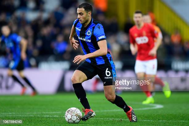 Sofyan Amrabat midfielder of Club Brugge in action during the Jupiler Pro League match between Club Brugge and Standard de Liege at the Jan Breydel...